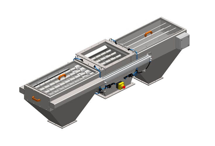 Double-sided magnetic separator MSV LML with a blowing system