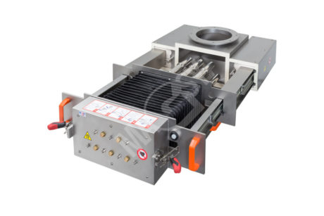 Magnetic separator with telescopic grates MSV - UP